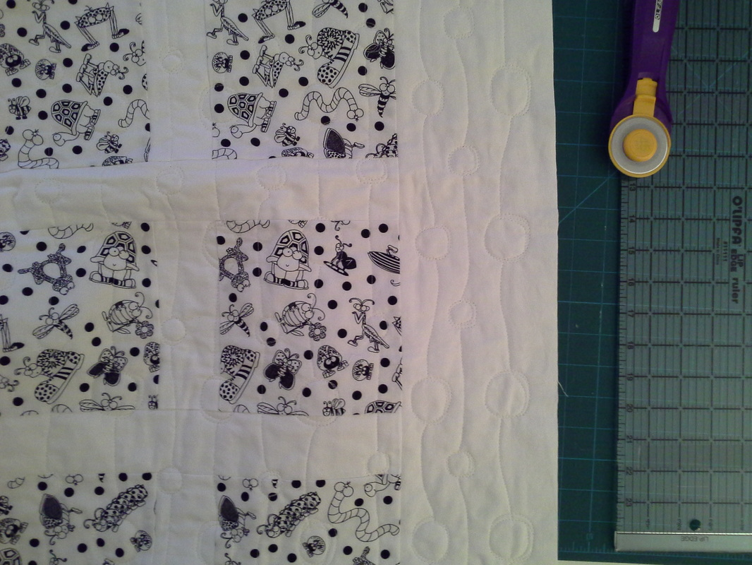 black white baby quilt for sale