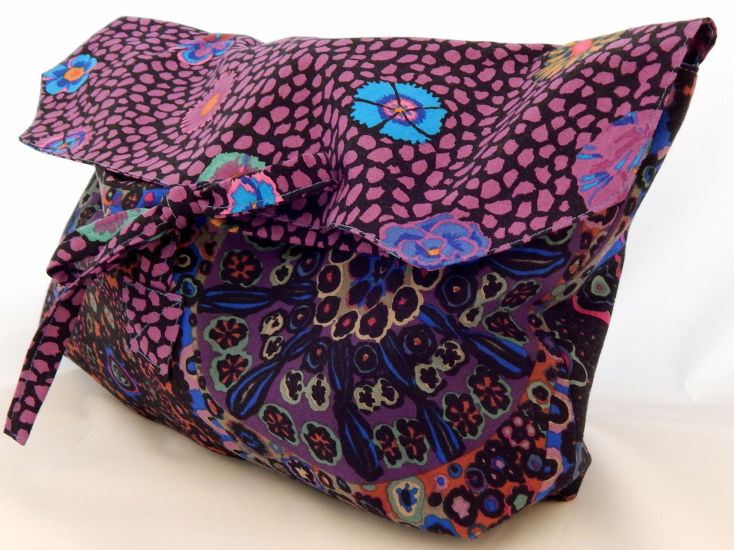 Travel bag, Kaffe Fassett Millefiore, Guinea Flower fabric