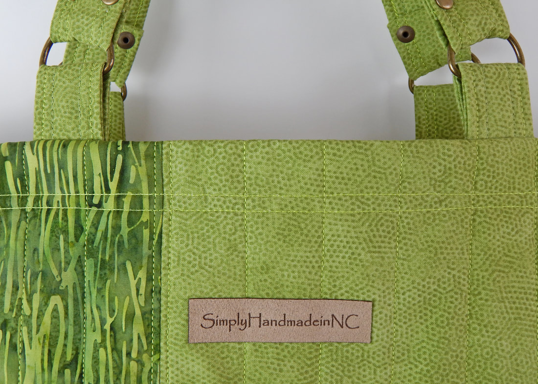 Green tote bag, shopping tote, market tote