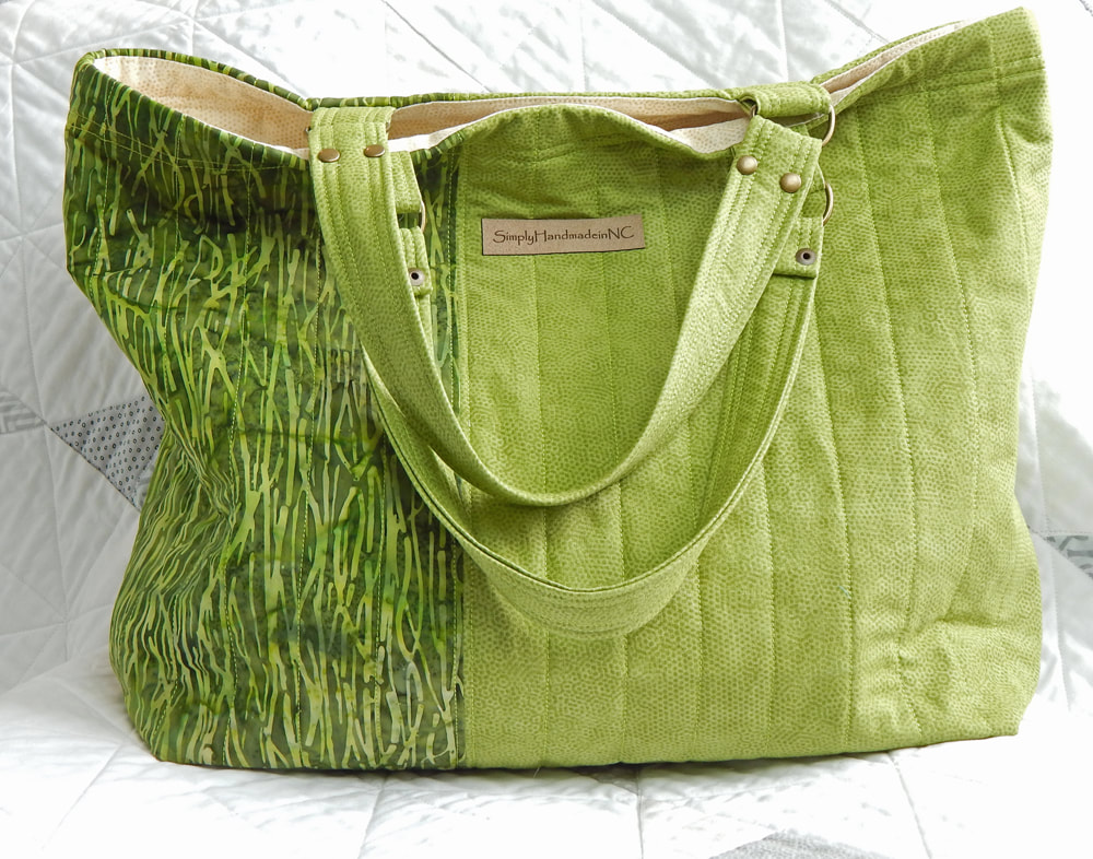 Green Tote Bag, Shopping Tote or Market Tote